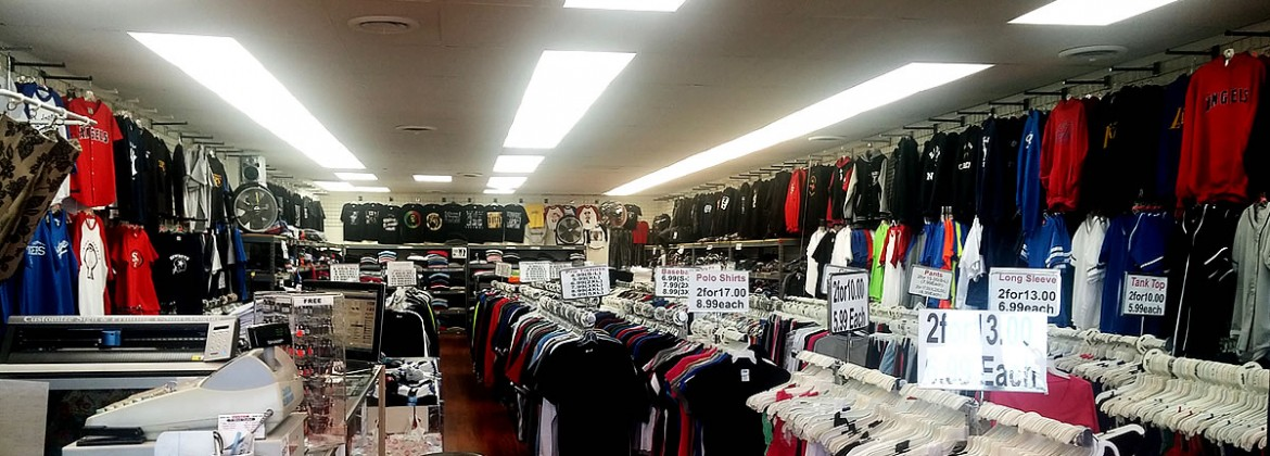 T-Shirt Outlet inside