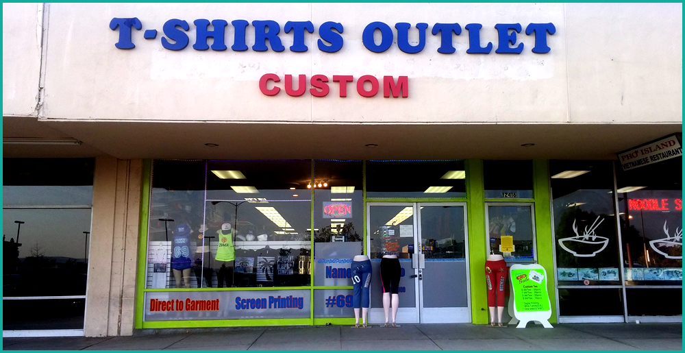 Custom shirt printing with T-Shirts Outlet